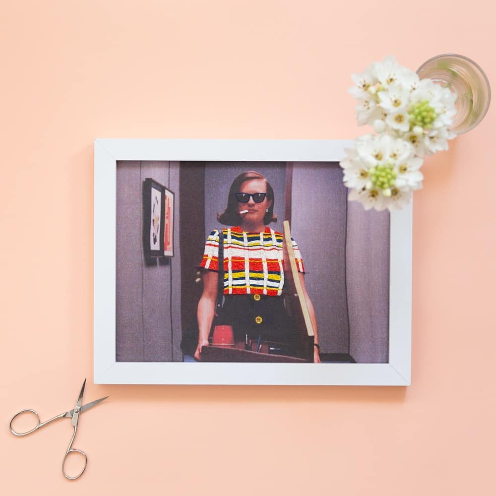 Mad Men Fans, Check Out This Photographic Embroidery Hoop Featuring Peggy ... Iconic!