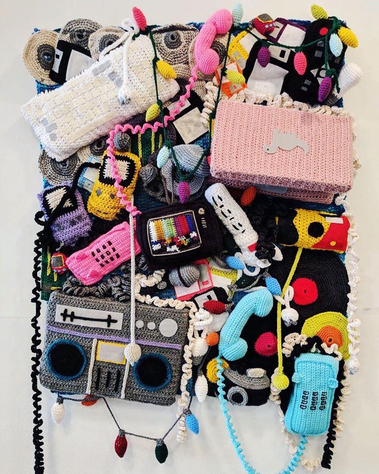 Amazing 'Techstile' Blanket Crocheted By Craftivist Collaborative, Threadwinners