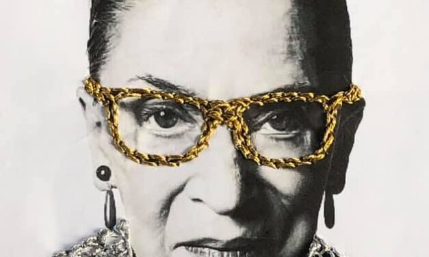 You'll Love Ashley Ann's Bad Ass Ruth Bader Ginsburg Paper Embroidery