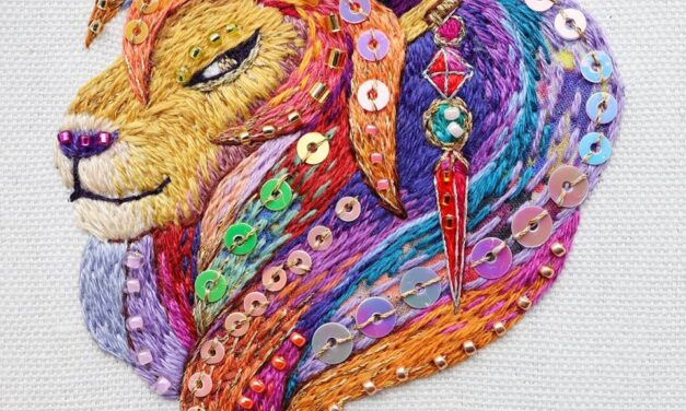 Kimika Hara's Colorful Leo The Lion Embroidery