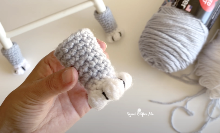 A New Take On A Popular Favorite … Crochet Cat Paw Chair Socks With This Free Pattern And Tutorial!