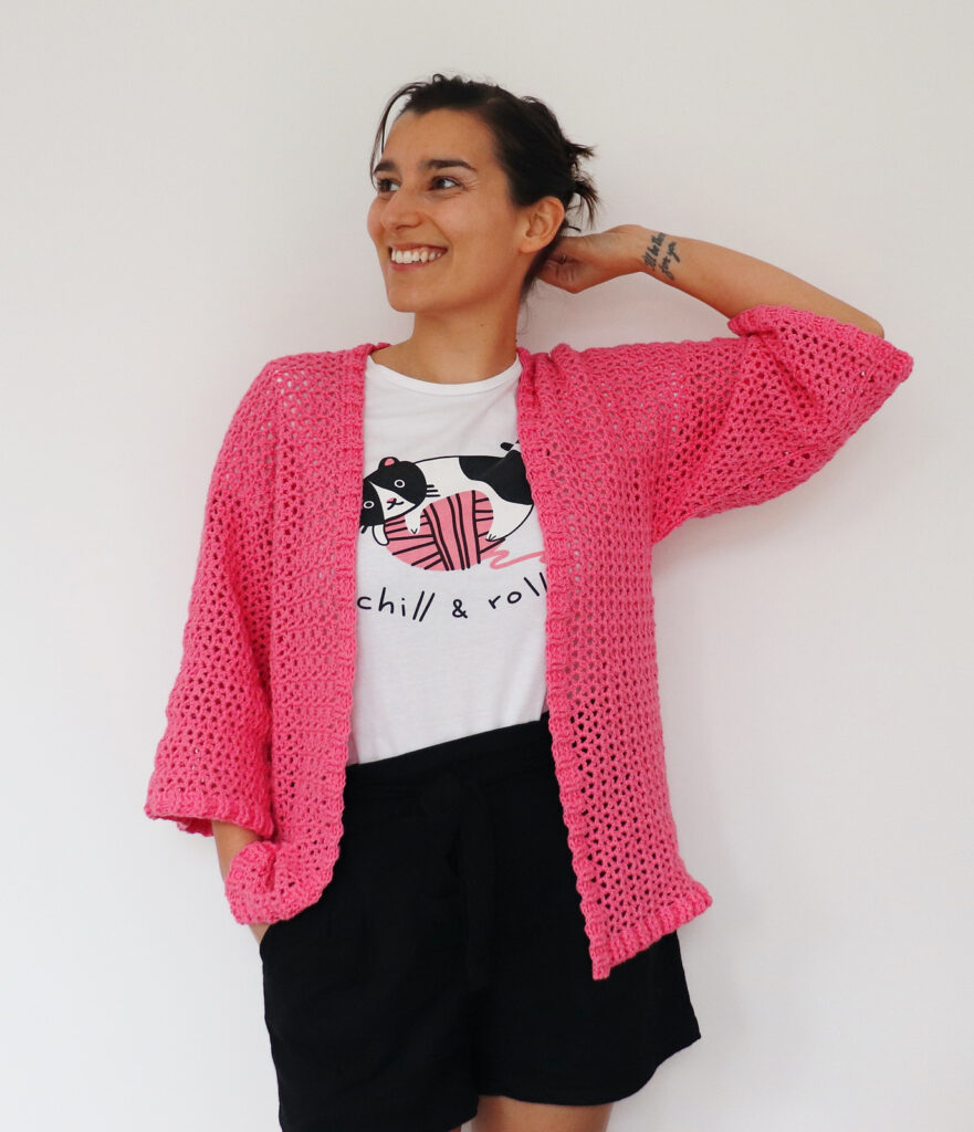 Crochet An Easy Ribbed Kimono, Free Pattern By Susana of Fluffy Stitches