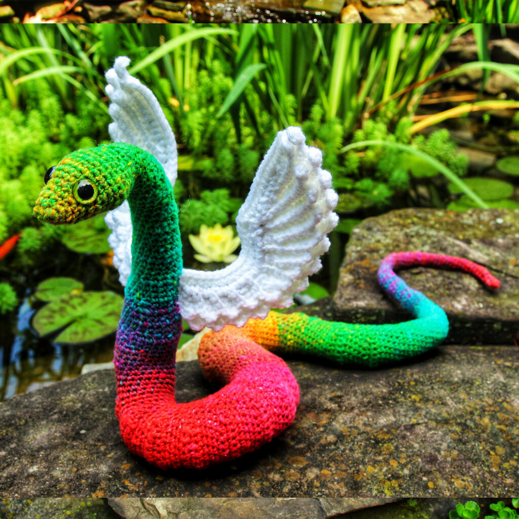 Crochet an Incredible Winged Snake Amigurumi, Designed By Megan Lapp of Crafty Intentions