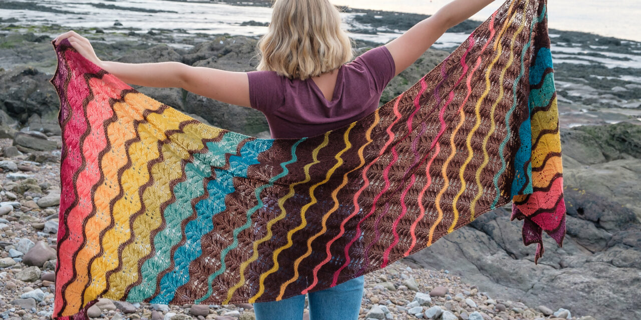 When You See It, You'll Want To Knit a Chasing the Sunset Shawl … Designed by Helen Kennedy