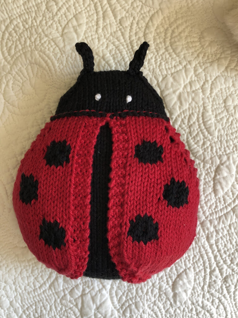 Knit an Adorable Lovebug ... It Has Wings That Open!