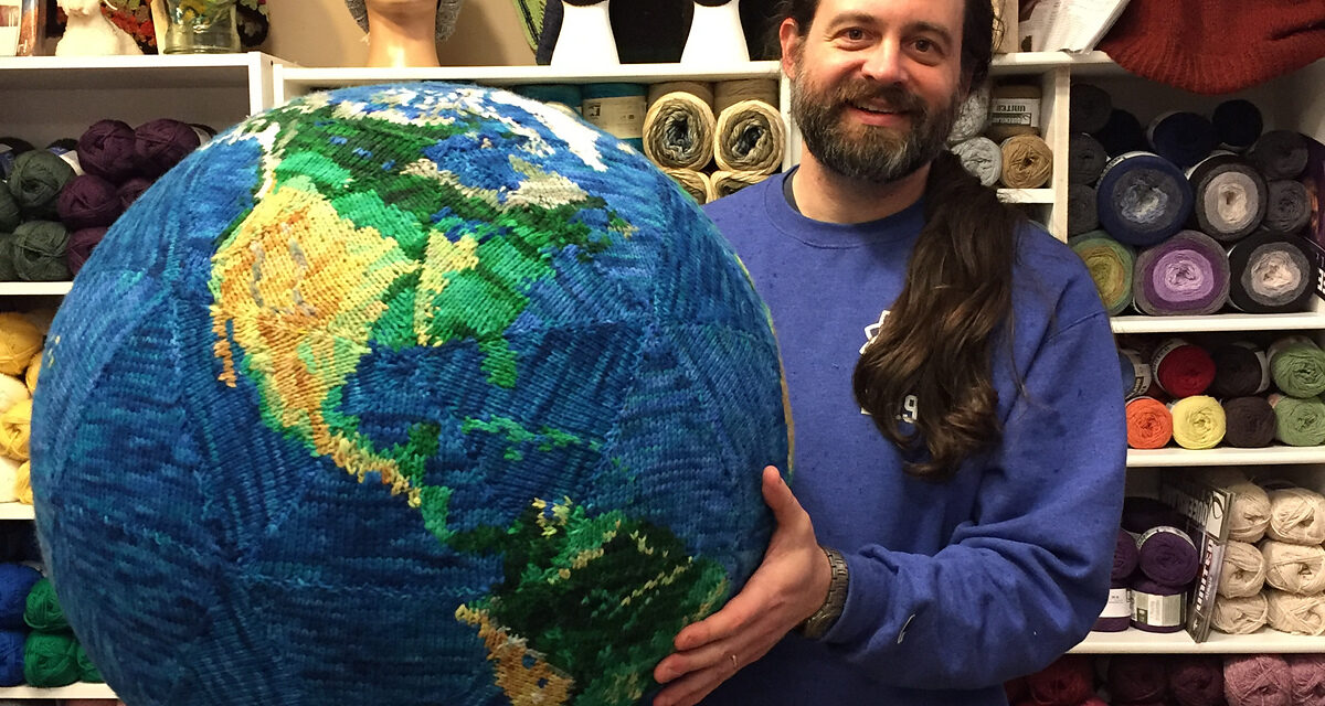 Knit a Giant, Totally Amazing Replica of Earth With a Pattern from Rik Shell