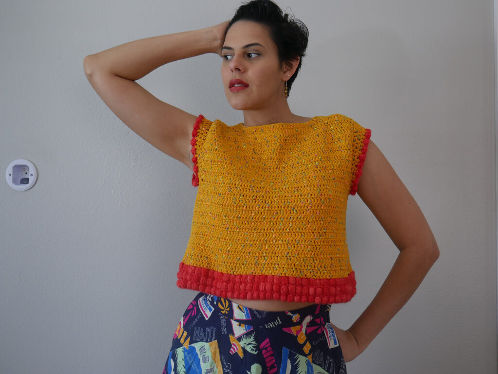 Crochet a Mango Tango Top Designed By Clarisabeth Lopez Rodriguez