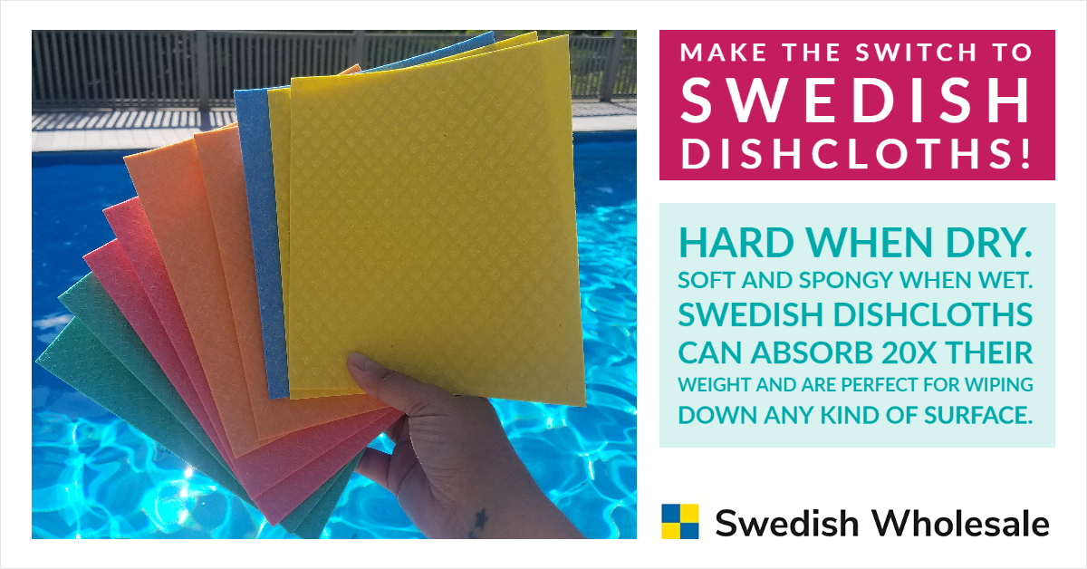 Swedish Dishcloths From Swedish Wholesale Are Stylish, Reusable and Eco-Friendly Too