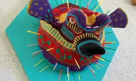 Eva Devon's Knitted Puffer Fish … Fauxidermy At It's Finest