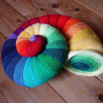 Crochet a Colorful Ammonite, the Forefather of the Nautilus