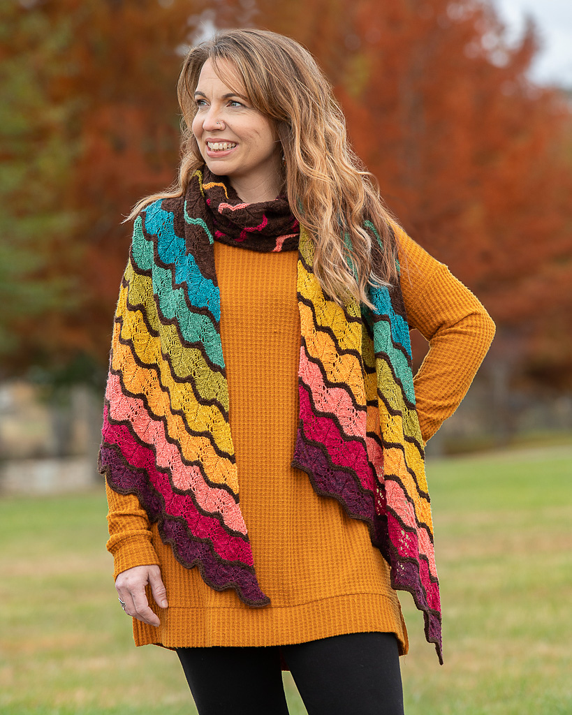 When You See It, You'll Want To Knit a Chasing the Sunset Shawl ... Designed by Helen Kennedy