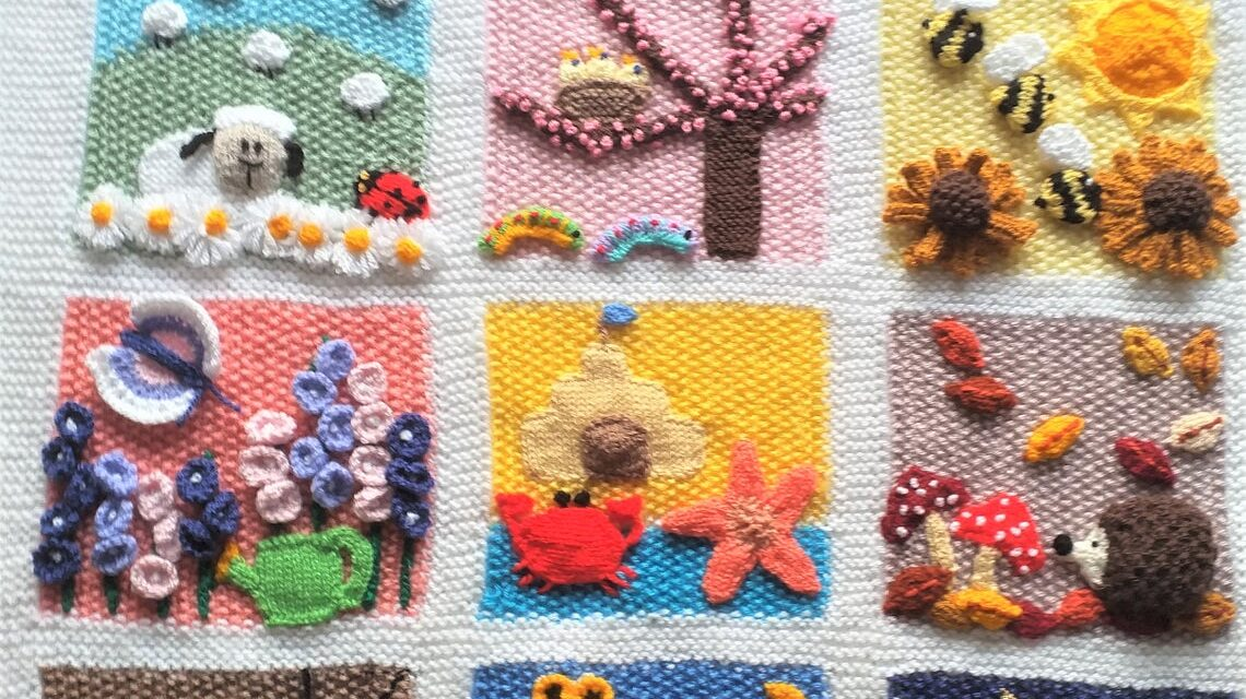 Knit a Cute Calendar Blanket – Celebrate Each Month Of The Year!