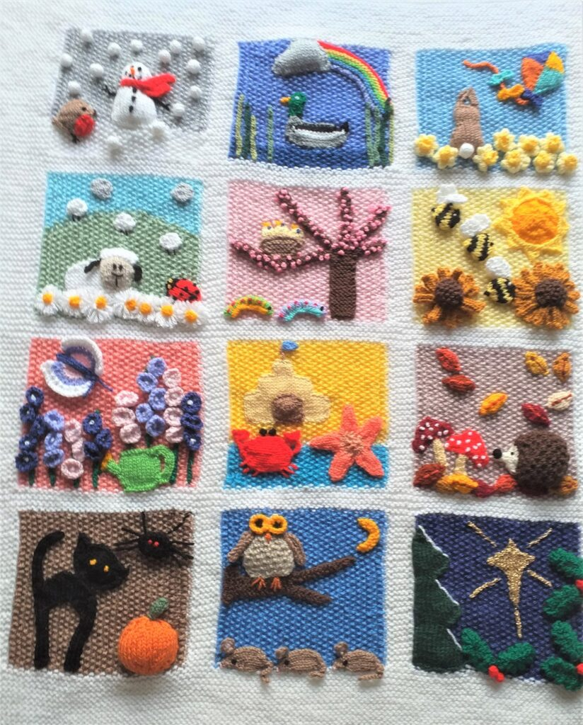 Knit a Cute Calendar Blanket - Celebrate Each Month Of The Year!
