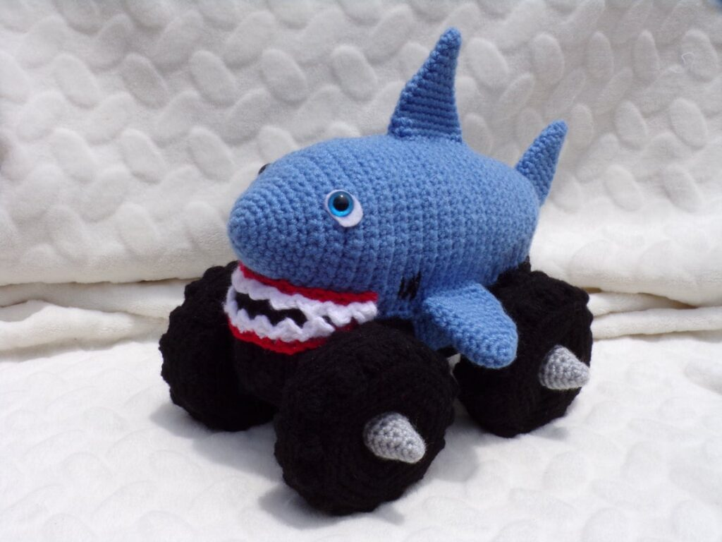 Crochet a Mega Shark Monster Truck ... If You Can Crochet, You Have To!