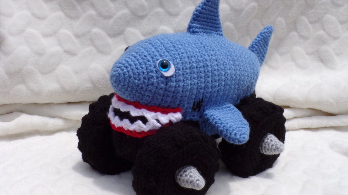 Crochet a Mega Shark Monster Truck … If You Can Crochet, You Have To!