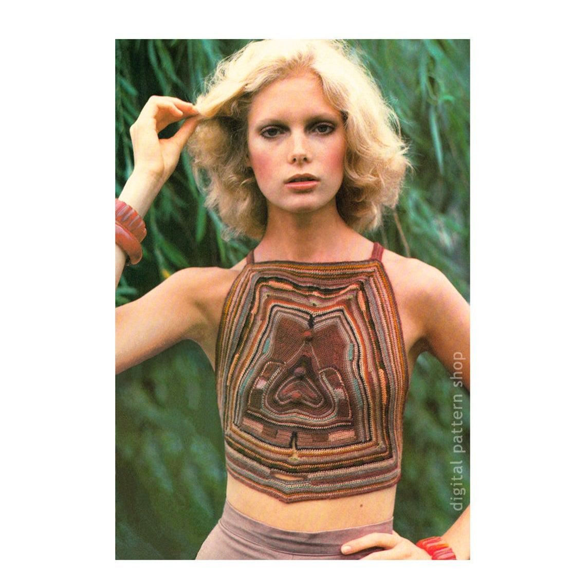 Crochet a Vintage Boho Maze Halter Top ... It's Wearable Art!