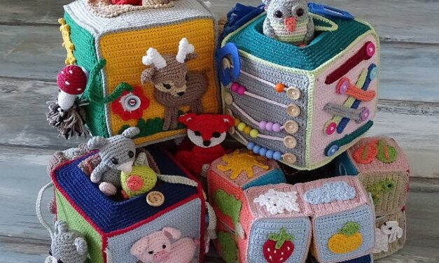 Crochet Activity Cubes Are So Clever! Here Are Four Fun Patterns To Choose From!