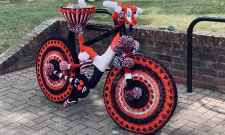 Yarn Bombed Bikes Spotted In East Preston … I Love Them All!