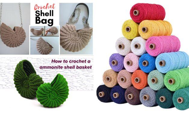 Crochet A Sturdy Shell Bag – Two Tutorials & Yarn Suggestions Too