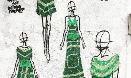 It's a Fashion Revolution! Anne Galante's Crochet Street Art For 'Fashion Revolution Day'