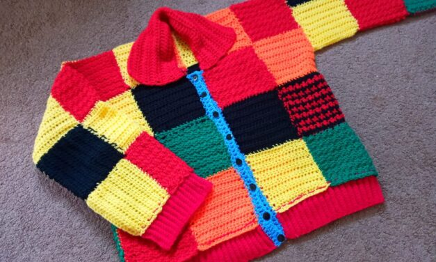 Now You Can CROCHET Harry Styles' Colour Block Patchwork Cardigan With This Free Pattern!