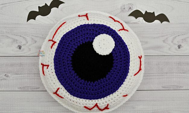 Creepy Cute Eyebally Cuddler … Crochet This Cushion For Halloween!
