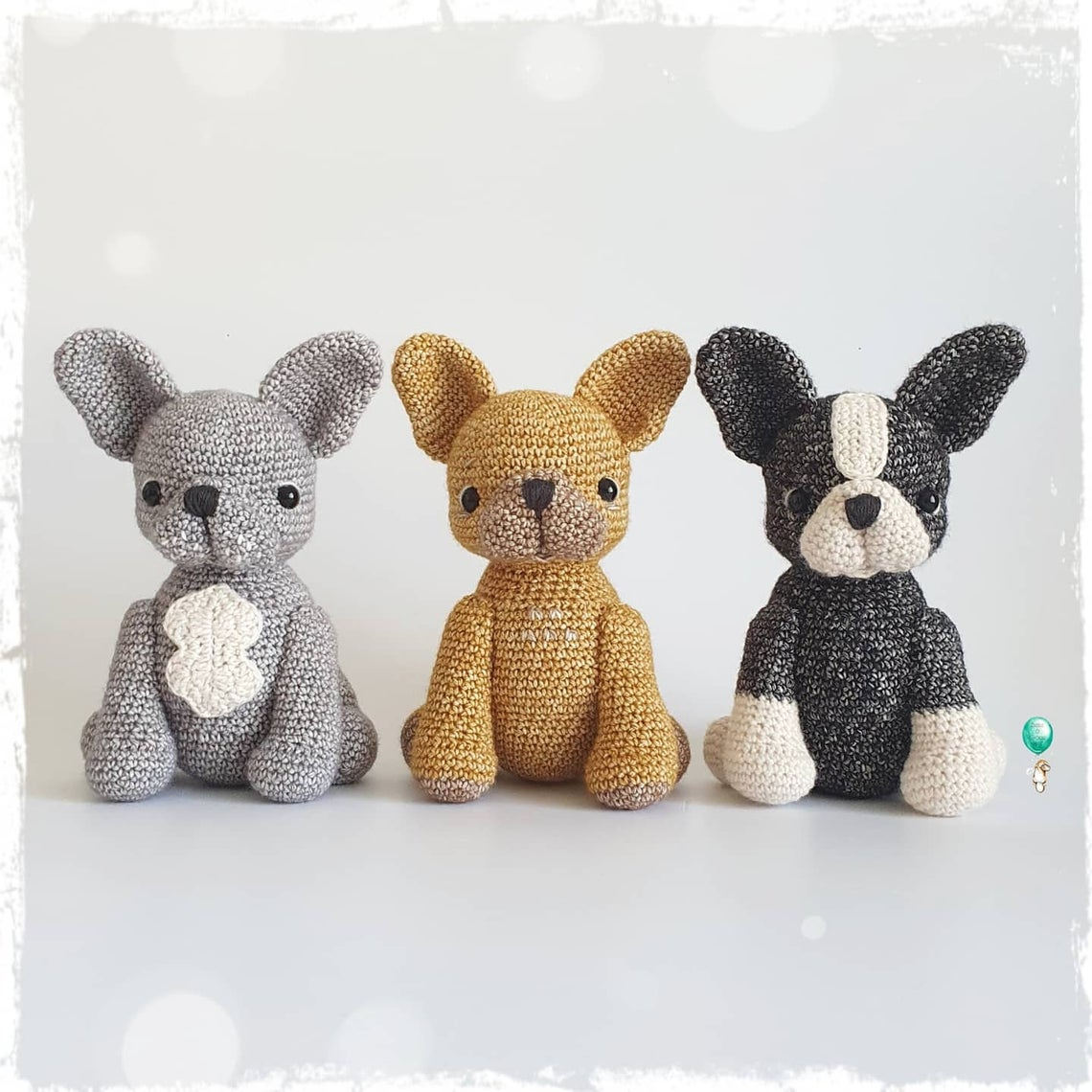 Crochet A French Bulldog Amigurumi ... Who's A Cute Frenchie?