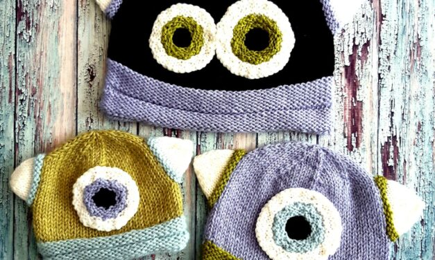 Knit a Fun Monster Beanie … Fun For Kids, Perfectly Acceptable For Grown-Ups Too!