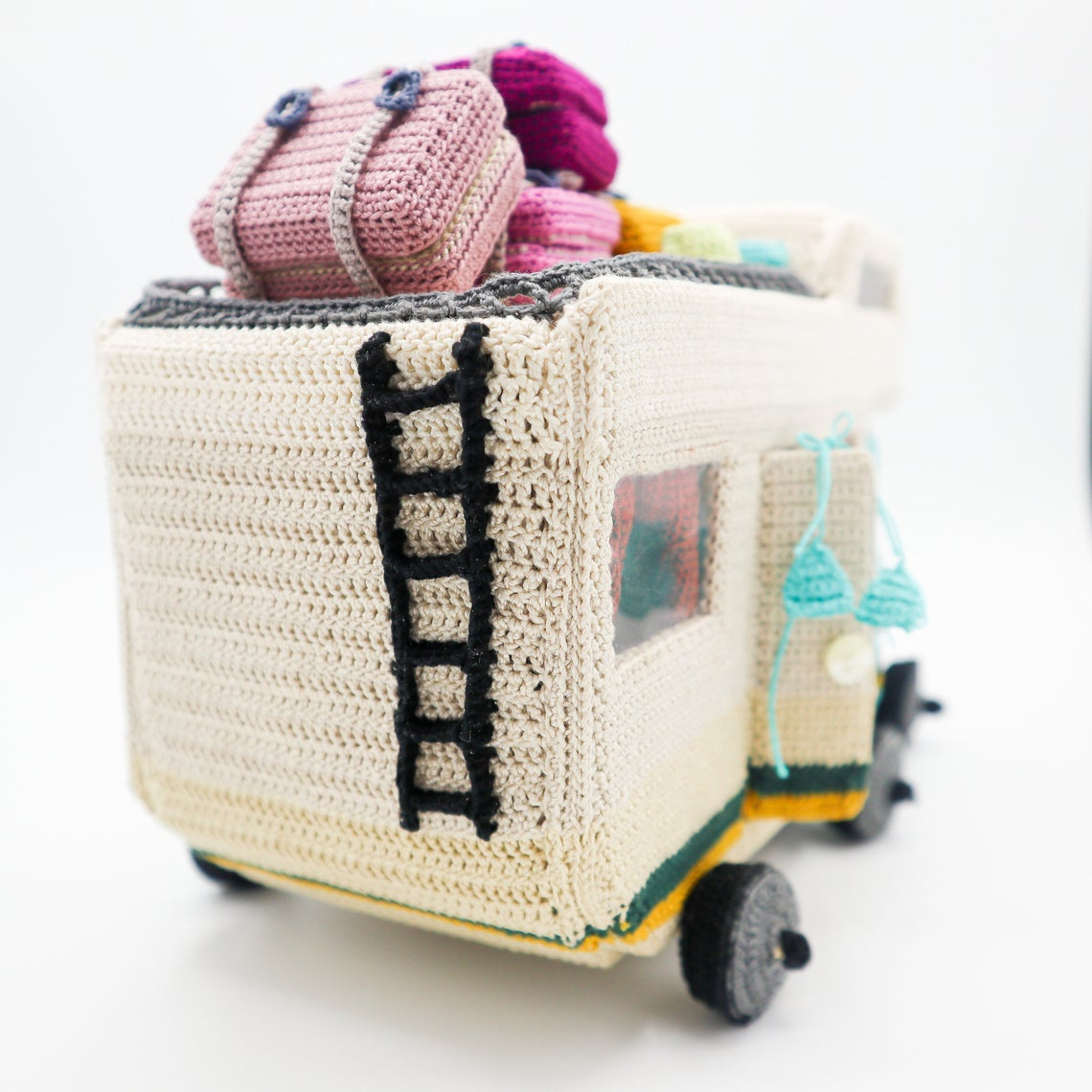 Incredible Crochet Caravan Pattern With a Ton Of Accessories To Boot ... Maximum Points For Giftability!