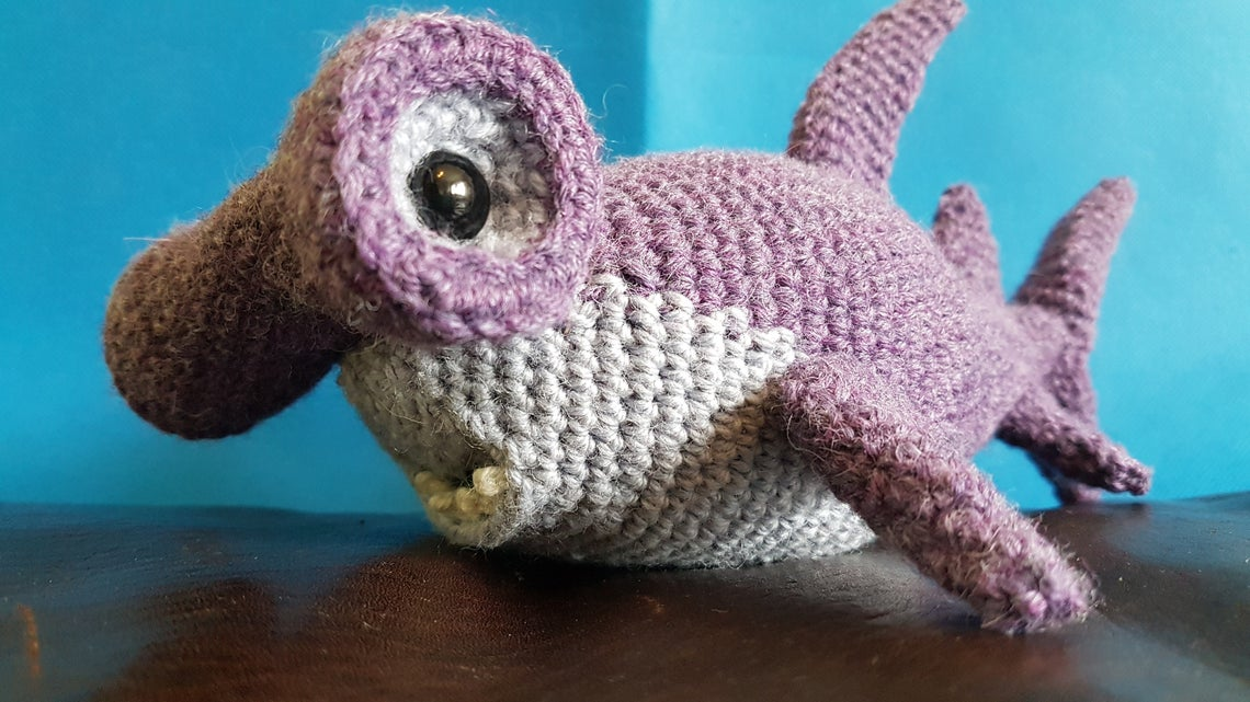 Crochet a Nail The Hammerhead Shark! He's Truly Amazing, One-Of-A-Kind!