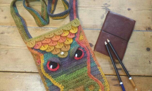 Crochet a Colorful & Unique Long Dragon Scale Bag