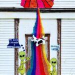 We Have Secured a 'Moofoundlander' … Big Fun Yarn Bomb By Nina Elliott aka Rock Vandal