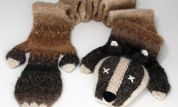Knit a Funny Badger Scarf … Makes a Unique Gift!