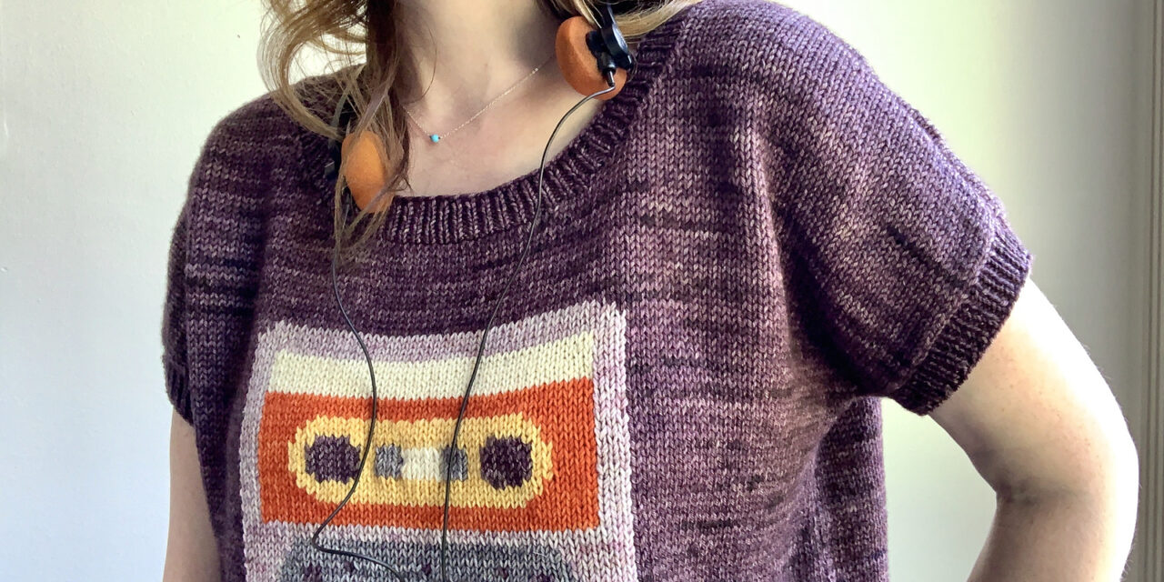 Knit a Retro-Inspired Mixtape Tee Designed By Jesie Ostermiller