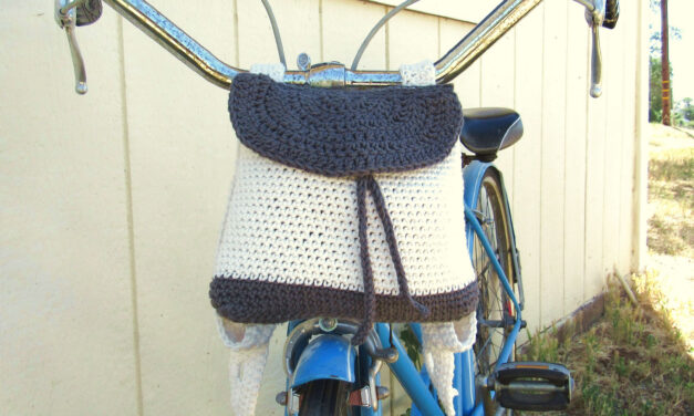 Crochet a Bike Backpack, This Awesome Bicycle Bag Pattern Makes a Thoughtful Gift!