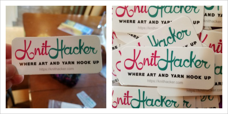 Sira Print Makes Quality Custom Stickers, Labels, Signs & More. I Made Stickers For Knithacker - So Easy!