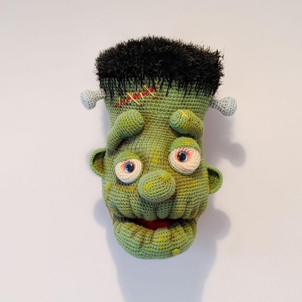 Frankenstein Fauxidermy Trophy Head Amigurumi Pattern ... He's Huge and So Cool!