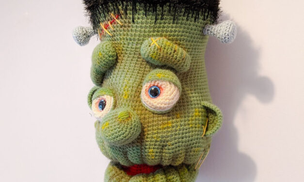 Frankenstein Fauxidermy Trophy Head Amigurumi Pattern … He's Huge and So Cool!