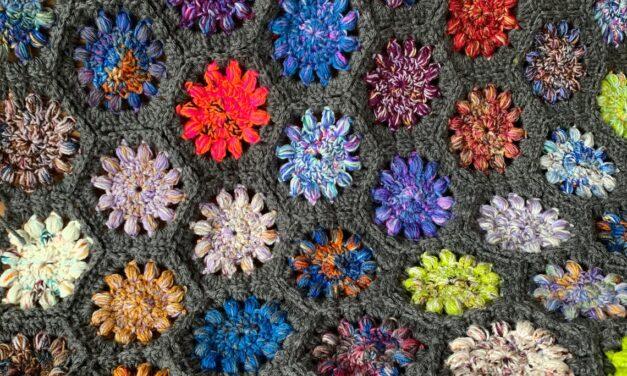 Crochet a Solar Kaleidoscope Blanket … Terrific Stashbuster, Beautiful Too!