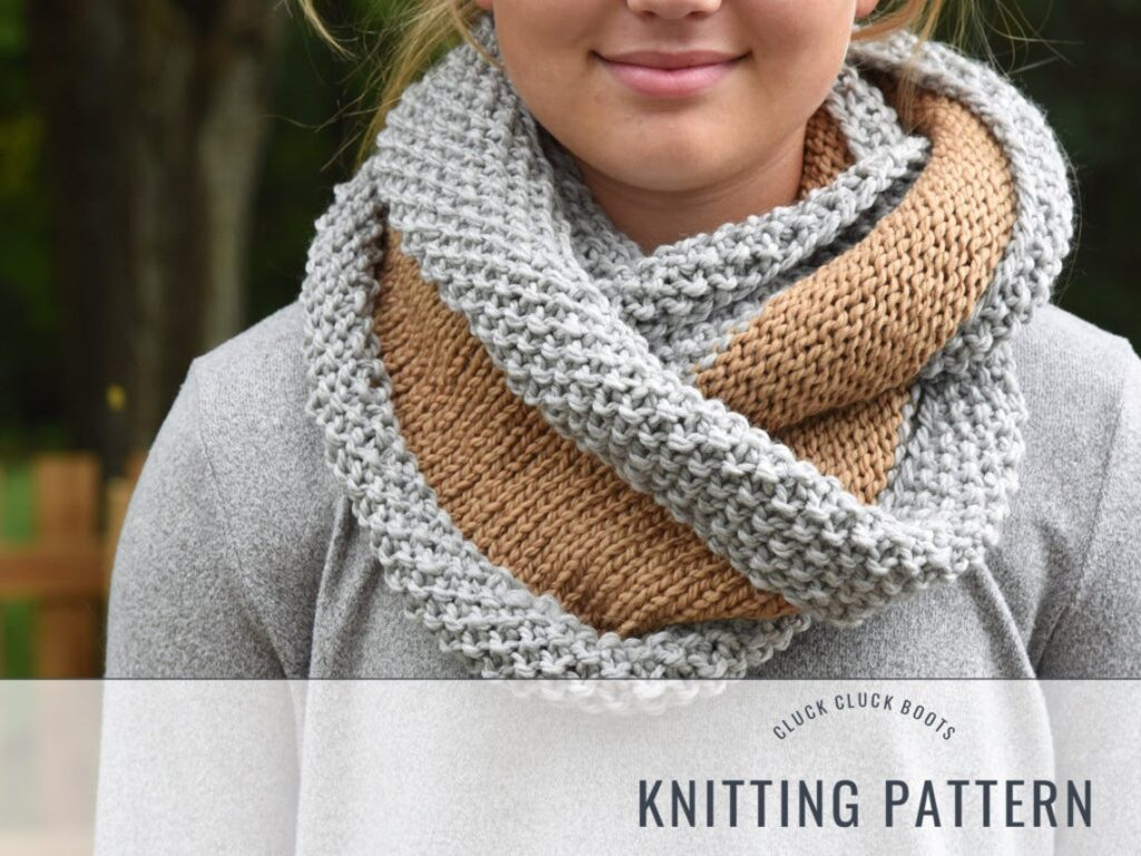 Knit a Stylish, Verglas Chunky Cowl  ... Great Pattern For Beginners!