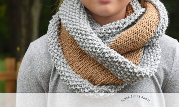 Knit a Stylish, Verglas Chunky Cowl  … Great Pattern For Beginners!