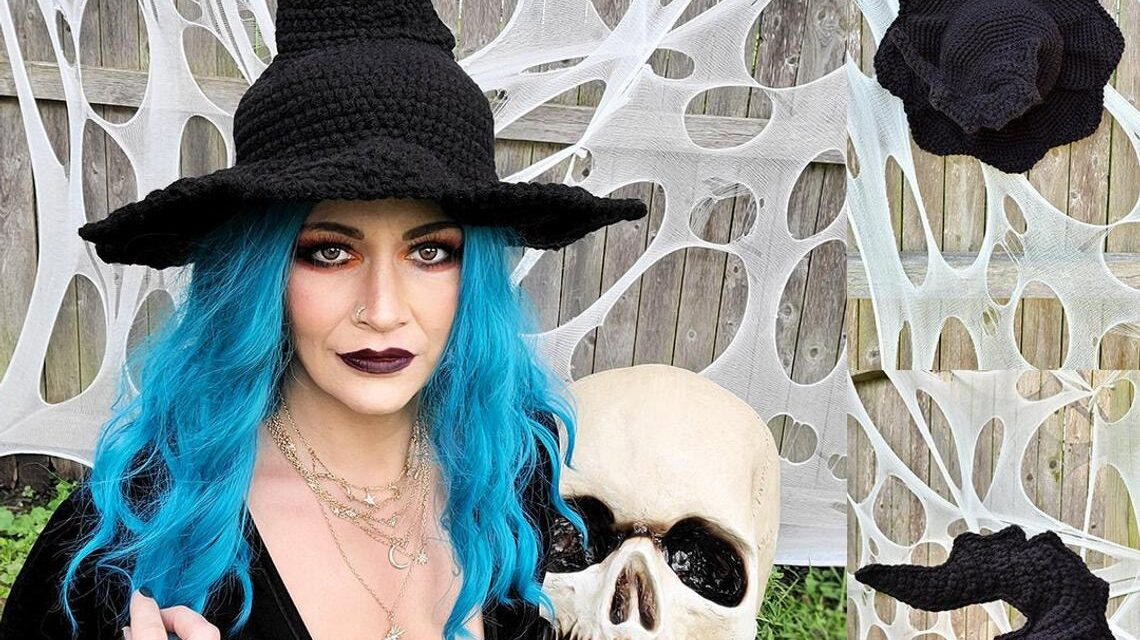 Crochet This Witch Hat For a Perfect Halloween Cosplay, Designed By Crochetverse