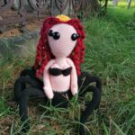 And Now For Something Different … Crochet a Black Widow Spider Queen Amigurumi, Designed By Bea McDonald