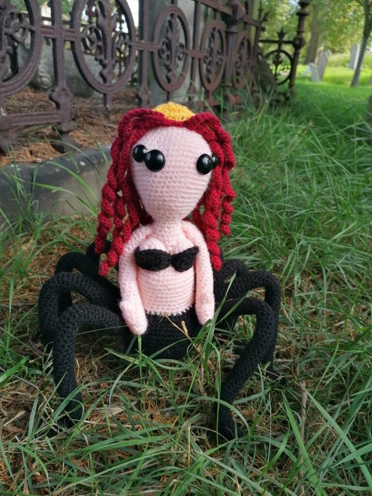 And Now For Something Different ... Crochet a Black Widow Spider Queen Amigurumi, Designed By Bea McDonald