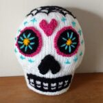 Great Pattern To Knit a Candy Heart Sugar Skull