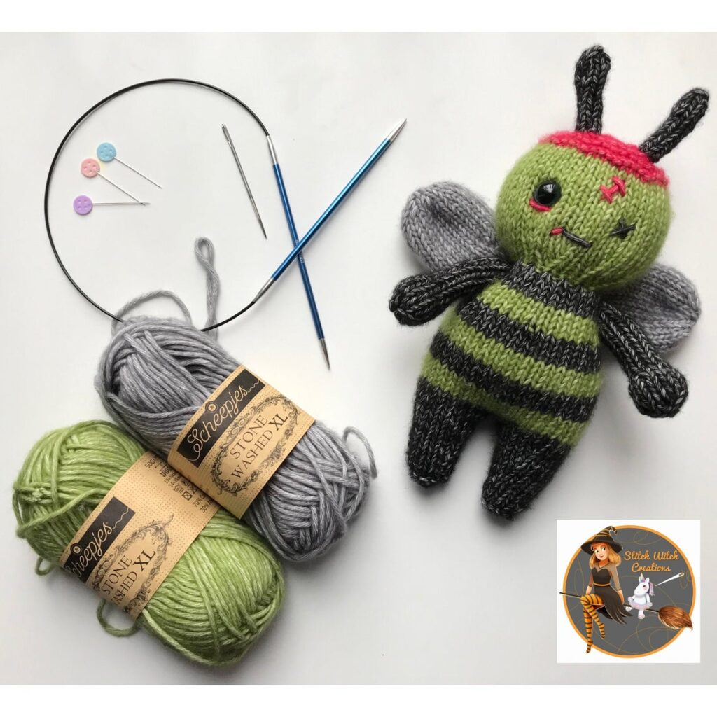 Knit & Crochet 'Zombee Patterns' By Stitch Witch Creations - So Cute!