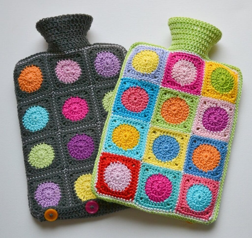 Crochet a Colorful Hot Waterbottle Cover - Makes a Great Gift!