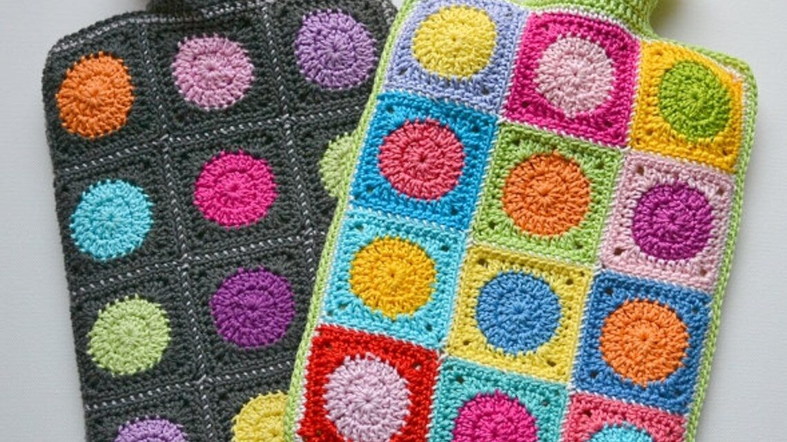 Crochet a Colorful Hot Waterbottle Cover – Makes a Great Gift!