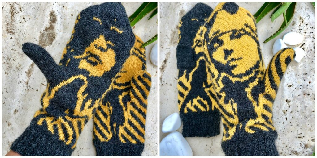 Knit a Pair of Guns 'n' Roses Mittens, Designed By Lotta Lundin, and Unite Slash 'n' Axl in Yarn ... Forever!