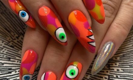 Colorful & Creative Nail Art Based a Ladies Fancywork Society Yarn Bomb … Wow!